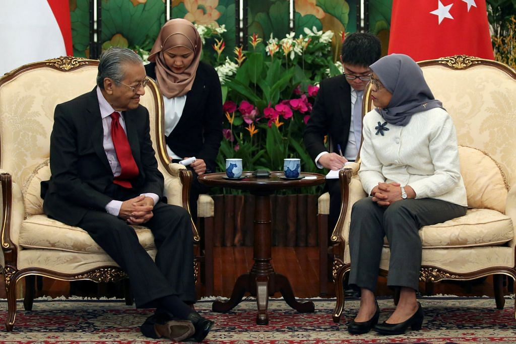 Tun Mahathir temui Presiden Halimah di Istana