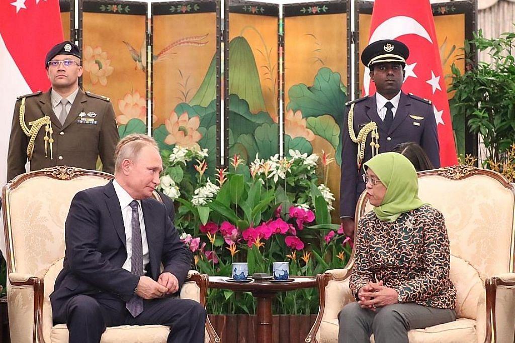 Presiden Halimah alu-alu lawatan pertama Presiden Putin ke S'pura