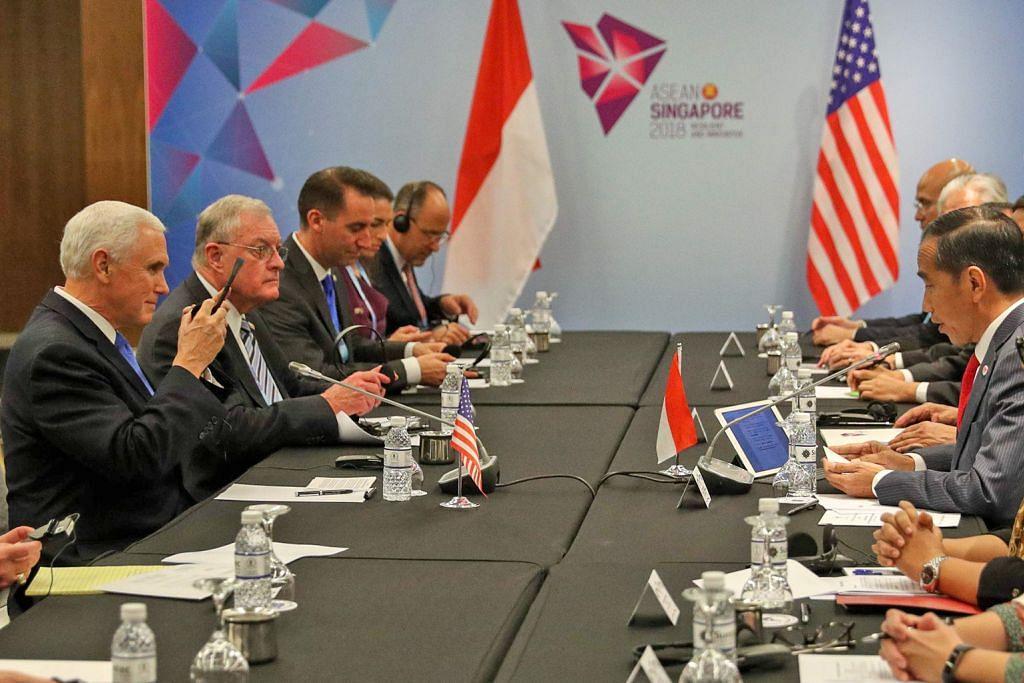 Mike Pence adakan perbincangan dengan Jokowi