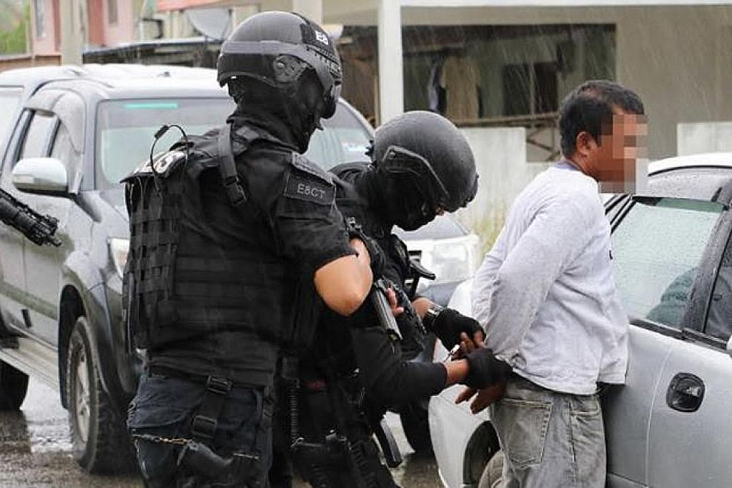 Lapan suspek disyaki pengganas ditahan di M'sia