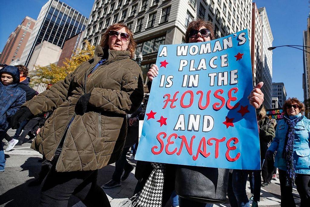Wanita robohkan 'tembok' Kongres, gabenor Amerika