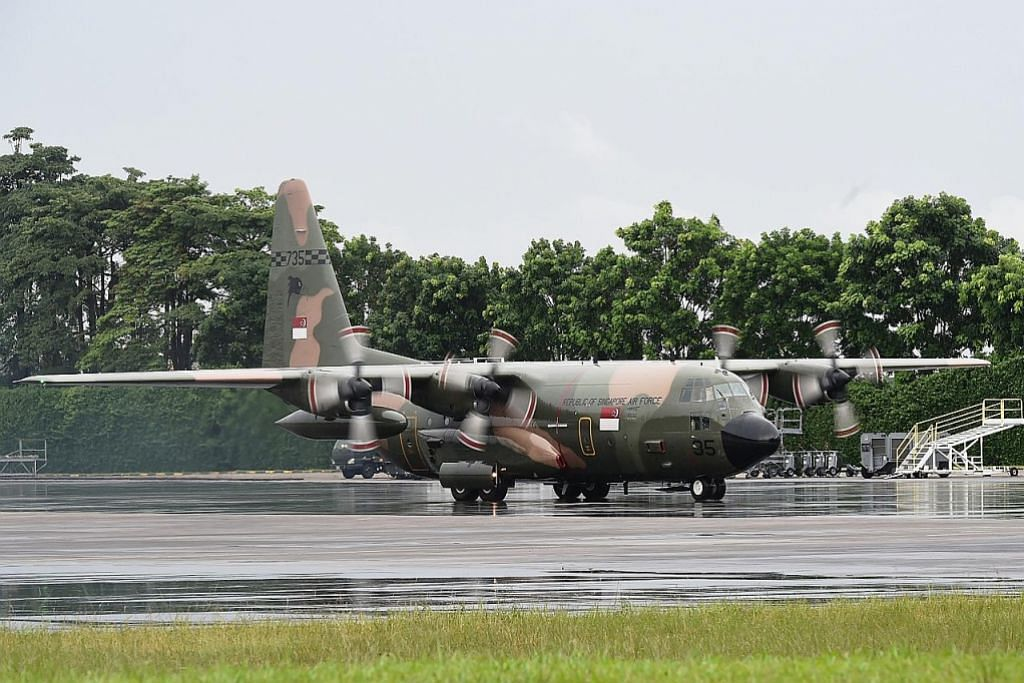 SAF hantar pesawat pengangkutan C-130 ke Indonesia