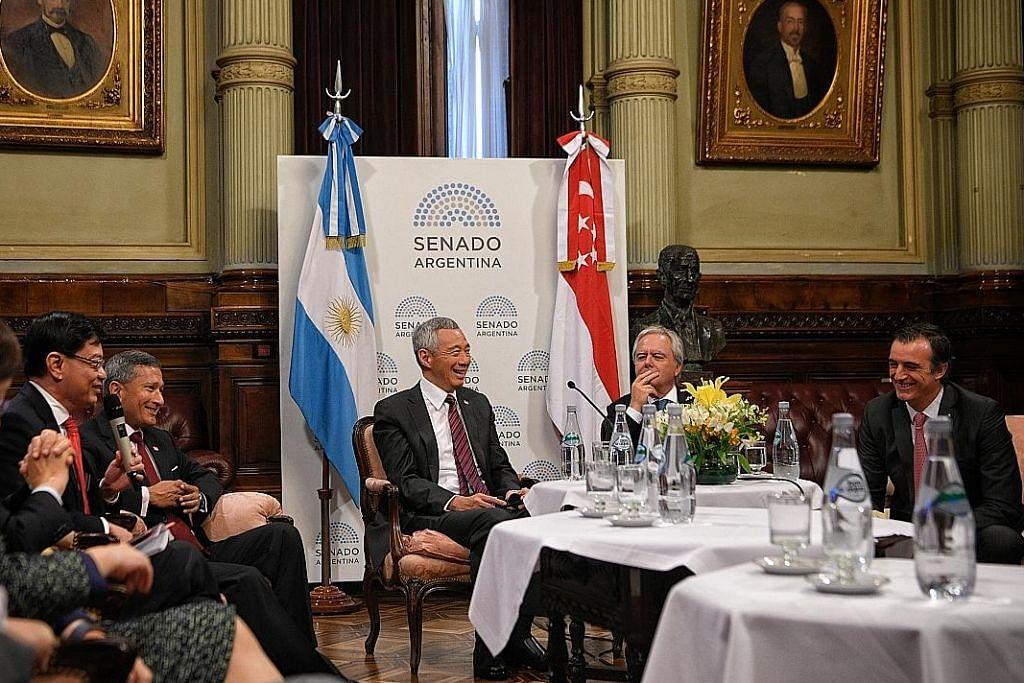 PM Lee bertemu tokoh politik negara penganjur perhimpunan