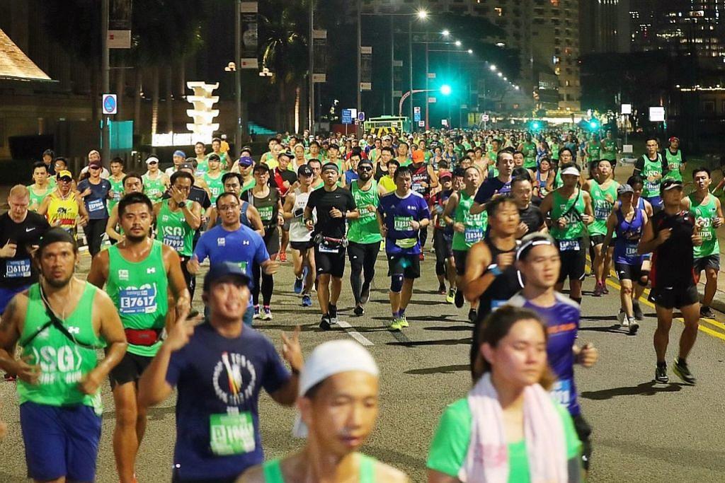 Pelbagai aksi dalam 'Maraton Standard Chartered Singapura'