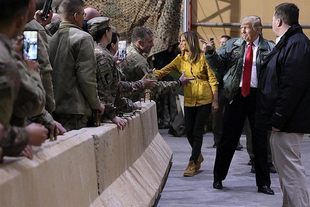 Trump buat lawatan mengejut ke pangkalan AS di Iraq