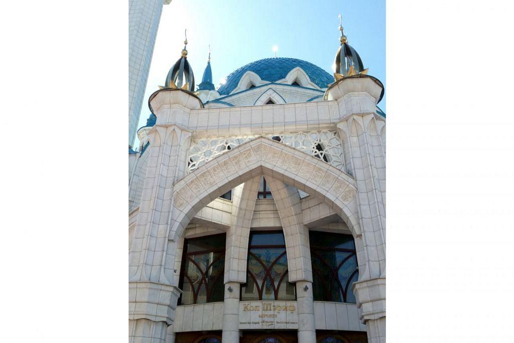 BERDIRI MEGAH: Masjid Kul Sharif yang berdiri megah dan menjadi kebanggaan penduduk Islam Kazan. - Foto ihsan ROHAIDA KARIM