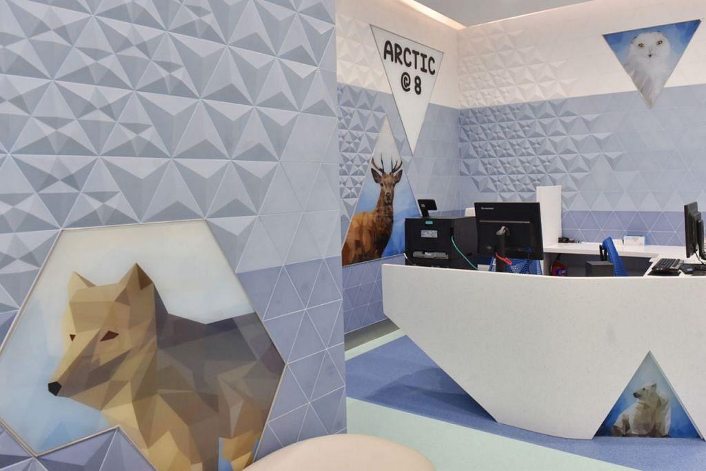 BILIK BERTEMA: Bilik-bilik konsultasi mempunyai tema masing-masing seperti hutan hujan, savana atau Artik. Setiap lantai mempunyai sebuah taman permainan. - Foto BH oleh JASMINE CHOONG
