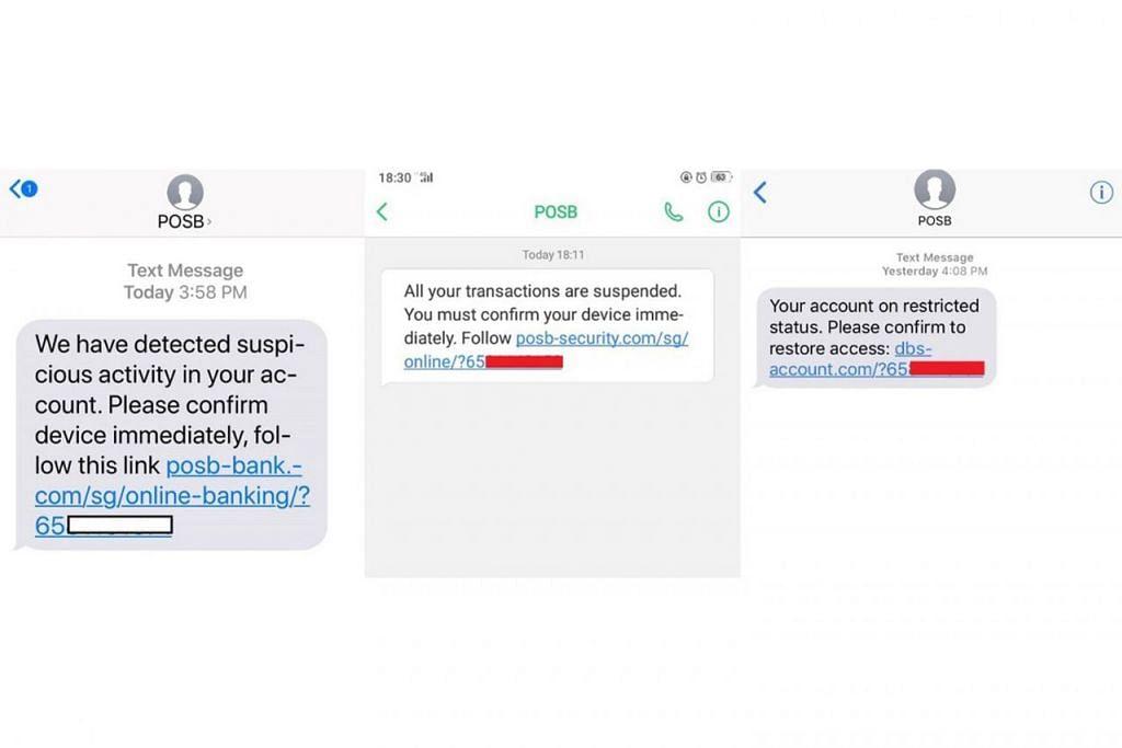 BERINGAT: DBS menasihatkan pelanggannya agar berwaspada semasa melayari Internet atau media sosial dan menerima pesanan kononnya daripada pihaknya seperti gambar di atas. - Foto DBS BANK