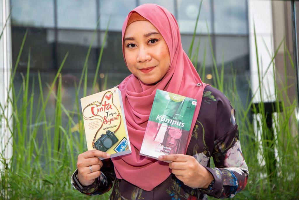 SUDAH BERJAYA TERBITKAN BUKU: Cik Nasuha atau nama penanya, Qaseh Husna, 26 tahun, tidak mahu menyerah kalah dalam mengejar cita-citanya menjadi penulis berkaliber. - Foto BH oleh ZALEHA ABDUL KADER