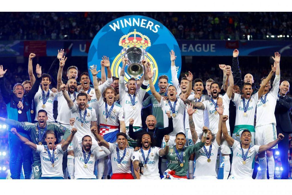RAIH MANFAAT: Kejayaan Real Madrid menjuarai Liga Juara-Juara membantu kelab itu menjana rekod pendapatan yang besar. - Foto fail REUTERS