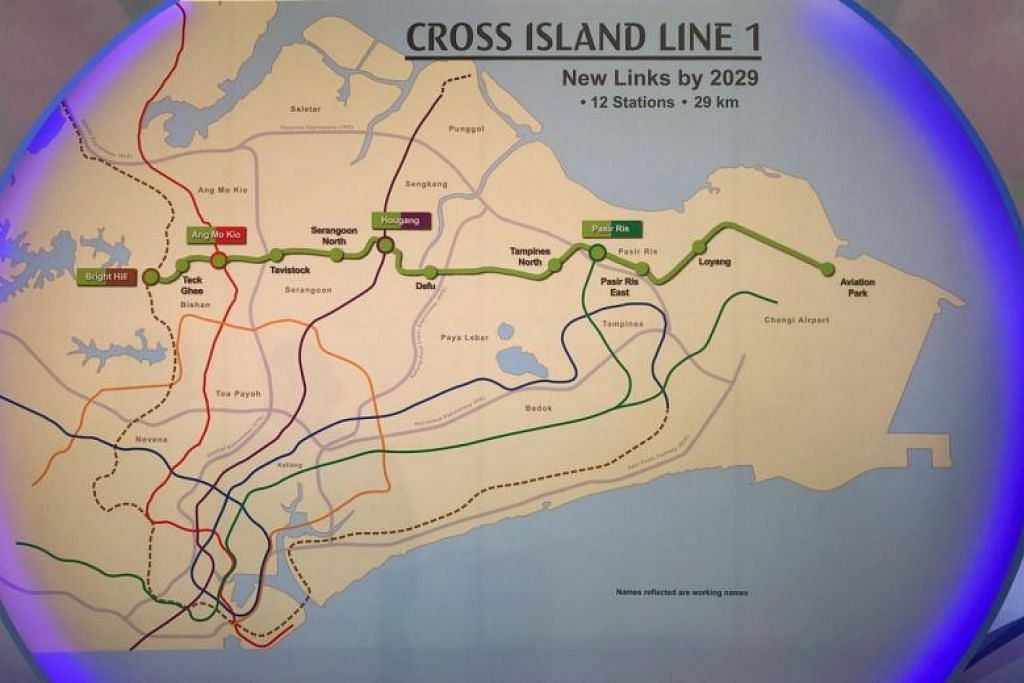 First phase of Cross Island MRT line finalised; will have 12 stations