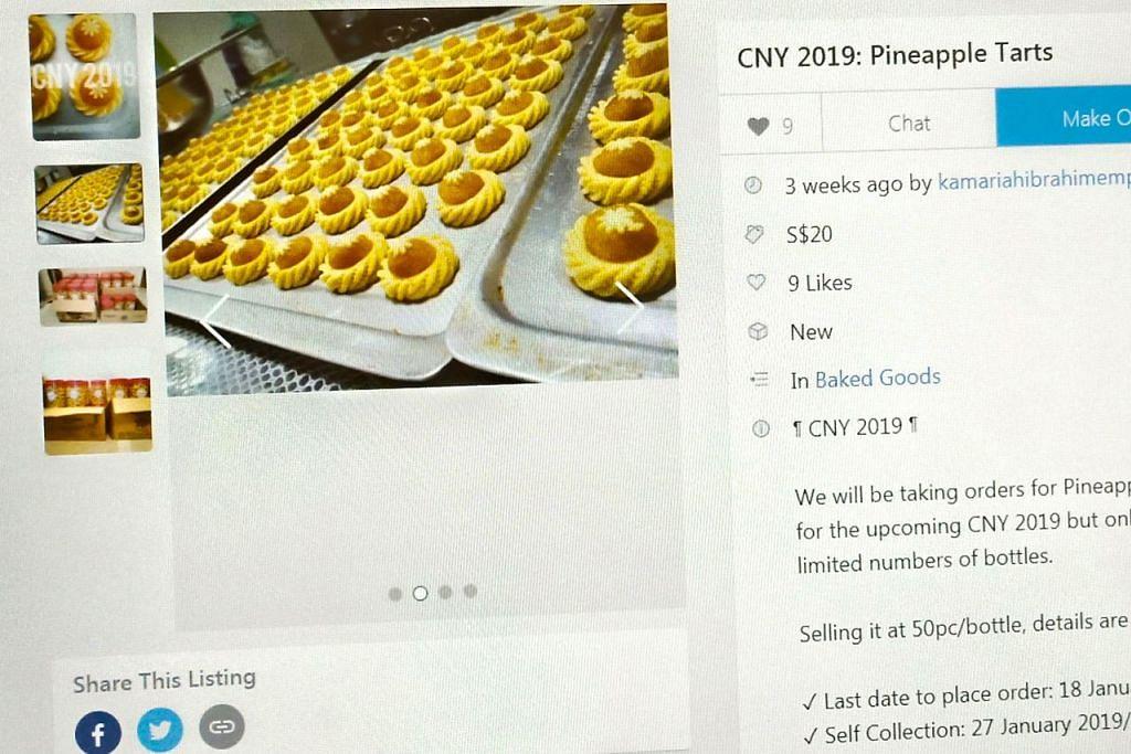 JUALAN SECARA DALAM TALIAN JUGA RANCAK: Terdapat sekitar 10 individu Melayu yang memasarkan kuih-muih sempena Tahun Baru Cina di laman Carousell. - Foto LAMAN CAROUSELL