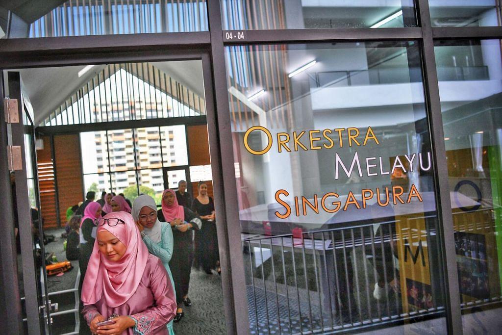 TEMPAT BARU: Orkestra Melayu Singapura bakal menjadi kumpulan seni pertama untuk beroperasi di WGS. - Foto BH oleh ARIFFIN JAMAR