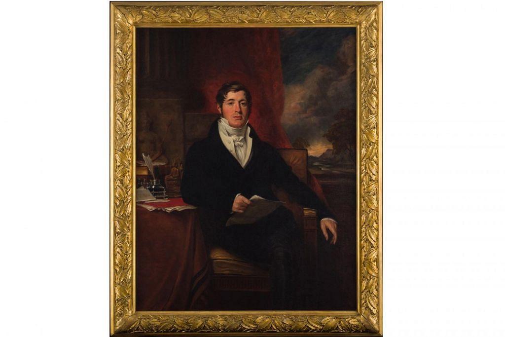 KUPAS PERANAN SEBENAR: Potret Raffles pada 1871, yang menggambarkan beliau sebagai cendekiawan ini diambil ketika beliau pulang ke England setelah selesai tugasnya di Jawa. - Foto BM oleh MUZEUM NEGARA SINGAPURA
