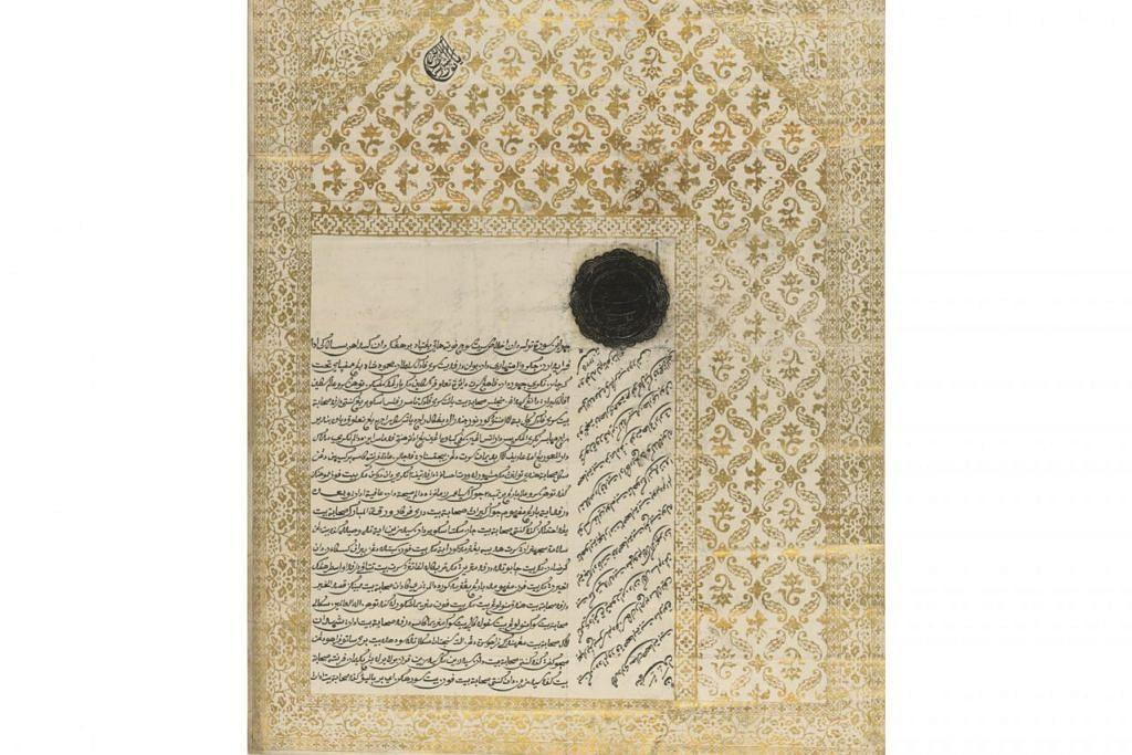KAJI HUBUNGAN RAFFLES DI RANTAU INI: Surat terakhir Sultan Mahmud Ri'ayat Syah dari Kepulauan Riau-Lingga berhubung dengan Raffles pada 1811 sebelum kemangkatannya. - Foto BM oleh BRITISH LIBRARY BOARD
