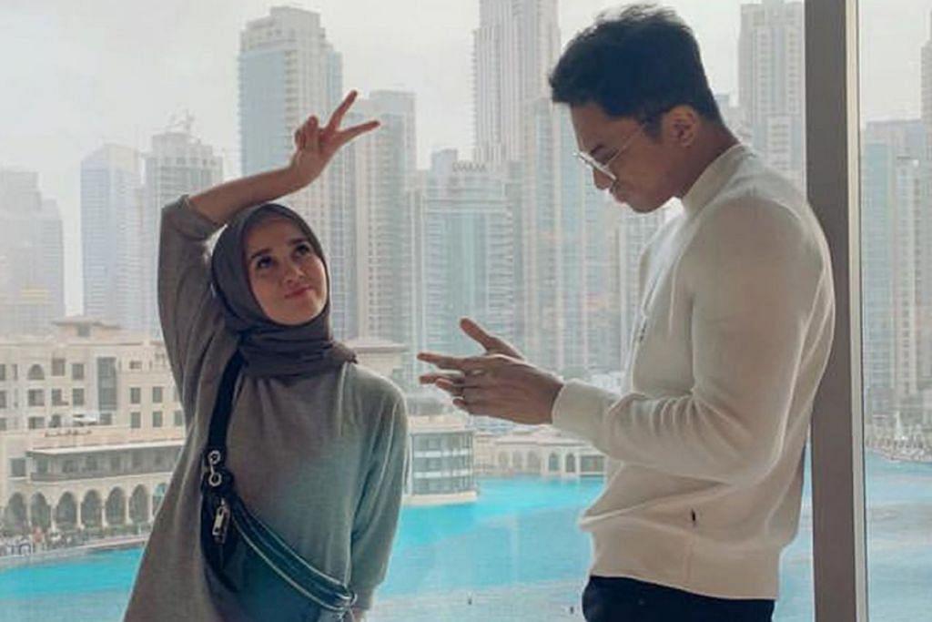 JALINAN CINTA?: Kisah percintaan Emma dengan Syed Abdullah (kededuanya atas) semakin mendapat perhatian. Gambar mereka berdua yang kelihatan mesra telah tular di media sosial dan pasangan itu mengakui itu adalah gambar mereka bersama. - Foto Instragram