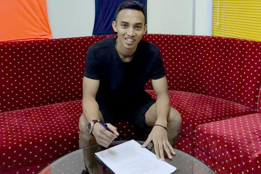 PERMULAAN BARU: Faris Ramli akan menyarung jersi Hougang United musim depan dan mengalu-alukan cabaran baru di SPL. – Foto FACEBOOK HOUGANG UNITED