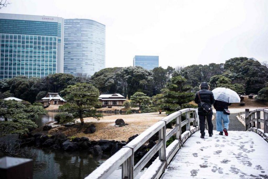 Agensi Meteorologi Jepun berkata perenggan sejuk (cold front) dan sistem tekanan rendah yang melintas boleh bergabung untuk menurunkan salji di beberapa kawasan di Jepun.