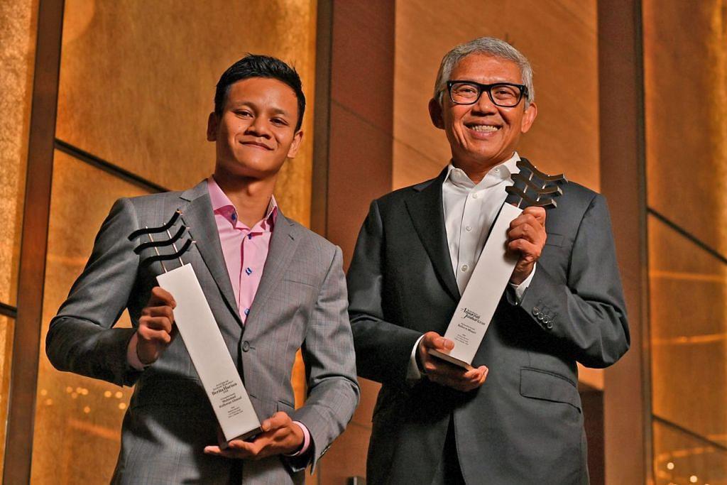 BANKER DAN PETINJU --> JAYA DALAM BIDANG BERBEZA: Encik Bahren Shaari (kanan) cemerlang dalam bidang perbankan dan merupakan Ketua Pegawai Eksekutif (CEO) Bank of Singapore, sementara Encik Muhammad Ridhwan Ahmad menempa nama dalam sukan tinju. – Foto fail