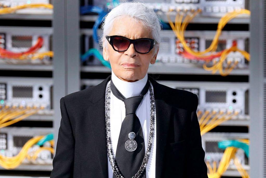 Pereka fesyen terkemuka Karl Lagerfeld meninggal dunia Selasa lalu pada usia 85 tahun. - Foto REUTERS