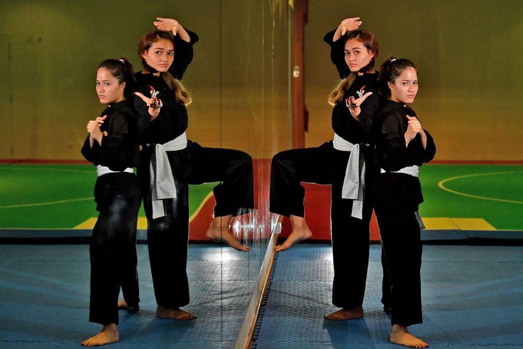 BERSAING SIHAT: Persaingan sihat antara Suhaila (kanan) dan Shafiqah (kiri) menjadi motivasi untuk capai kejayaan dalam acara masing-masing. - Foto BH oleh LIM YAOHUI