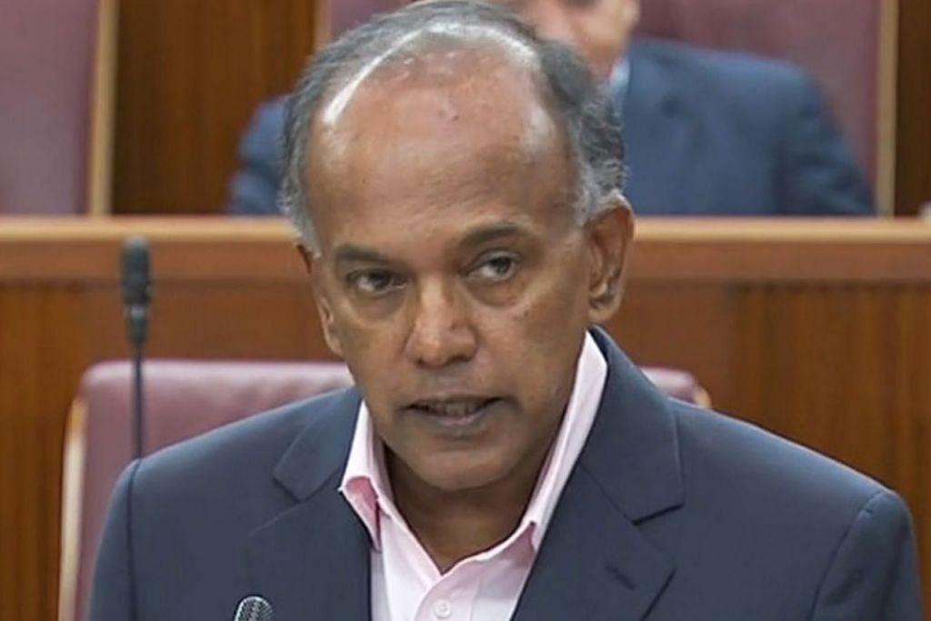 Menteri Ehwal Dalam Negeri merangkap Undang-Undang, Encik K. Shanmugam.