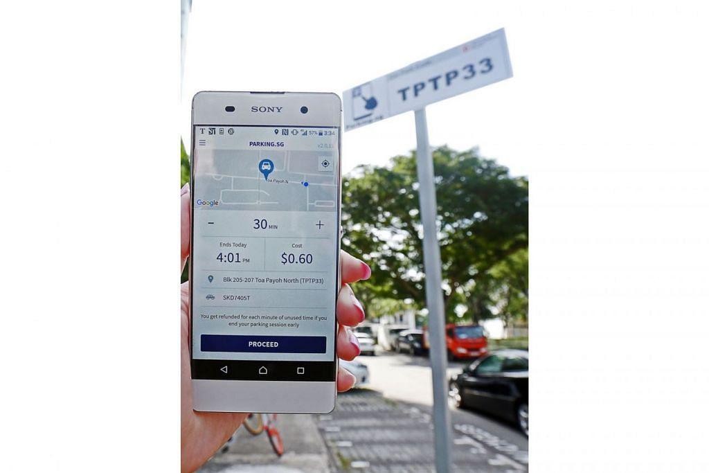 Aplikasi Parking.SG (gambar atas) bantu pengguna kenderaan jimat $3.6 juta