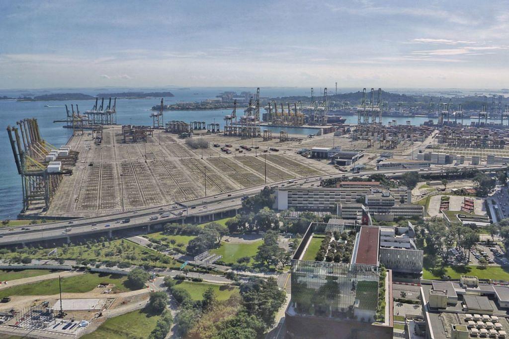 Kerja pembinaan Terminal Tuas (gambar atas) berjalan lancar, dijadual mulakan operasi pada 2021