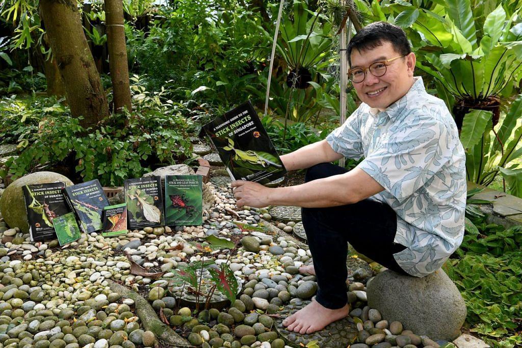 HASILKAN BUKU: Dr Francis Seow-Choen telah menghasilkan sehingga tujuh naskhah buku rujukan selain sekitar 50 kertas kajian mengenai serangga ranting dan daun.  - Foto BH oleh KHALID BABA