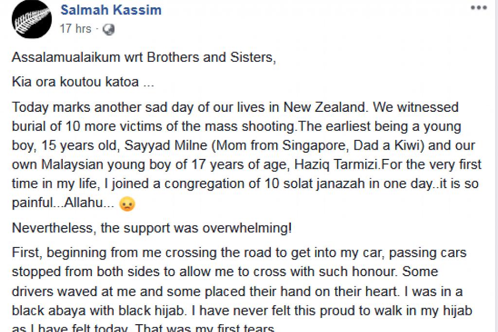 Kiriman Facebook Cik Salmah Kassim