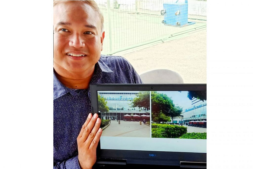 MENYEMARAKKAN WARISAN TELOK BLANGAH: Encik Mohd Sufian Sa'i menunjukkan kawasan di hadapan Waterfront City Mall sebagai tempat bakal berlangsungnya Pesta Warisan Singapura selama tiga hari dari 29 hingga 31 Mac ini. - Foto BH oleh SAINI SALLEH
