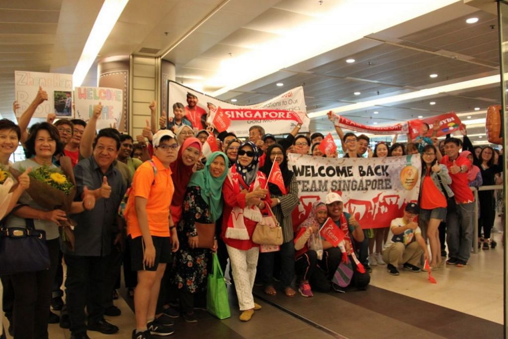 Supporters and families all smiles awaiting their loved ones who have been away at the Special Olympics World Games Abu Dhabi 2019 held from 14 to 21 March.