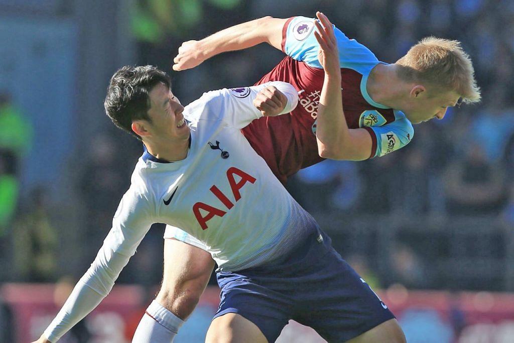 PERANAN PENTING: Son Heung-Min (depan) menyandang tanggungjawab berat untuk menjadi tenaga penggempur Spurs, dengan Delli Ali masih menanggung kecederaan. – Foto AFP