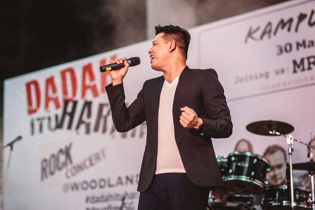 KONSERT 'DADAH ITU HARAM' - SEBAR MESEJ: Hady Mirza antara artis yang telah membuat persembahan dalam konsert 'Dadah Itu Haram'. Artis lain yang turut membuat persembahan ialah Sufie Rashid dan penyanyi Malaysia Sufian Suhaimi. – Foto AZHAR JALIL