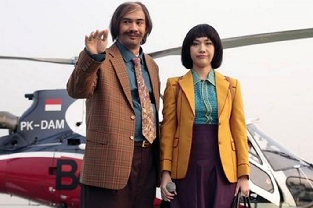 LEBIH TEMBAM: Pelakon Bunga Citra Lestari (kanan) berlakon watak Kerani dalam filem 'My Stupid Boss 2' dan sanggup menaikkan berat badan. Beliau digandingkan bersama pelakon Reza Rahardian sebagai Bossman. - Foto KAPAN LAGI