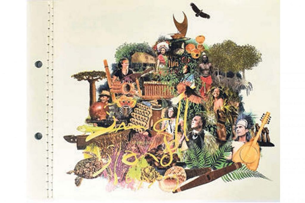 PROJEK BERMAKNA: Kulit album 'Small Island Big Song', yang menampilkan pelbagai pemuzik daripada pelbagai budaya di rantau Pasifik. - Foto SMALL ISLAND BIG SONG