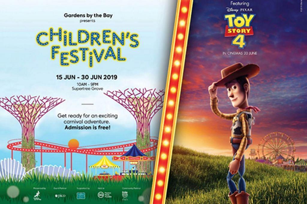 TARIKAN UTAMA: Dalam Pesta Kanak-Kanak yang berlangsung dari 15 hingga 30 Jun, Taman di Persisiran akan meriah dengan sajian pelbagai unsur visual dan permainan bertemakan francais filem popular 'Toy Story'.  – Foto TAMAN DI PERSISIRAN