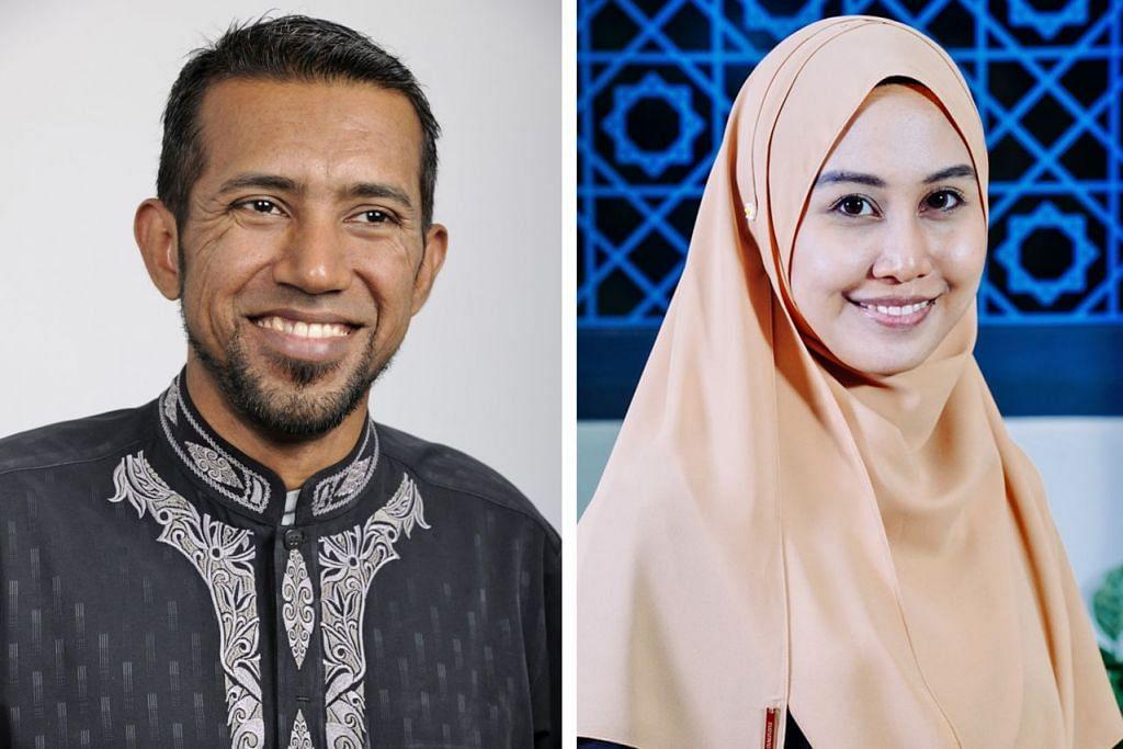 KONGSI ILMU: Asatizah tempatan, pendakwah bebas Ustaz Khalid Rafi (kiri) dan pegawai dakwah Masjid Assyakirin, Ustazah Unaisah Adam (kanan), bakal berkongsi ilmu bagaimana seseorang dapat memaksimumkan peluang bagi meraih manfaat terbesar dalam Ramadan nanti. - Foto-foto ADIL