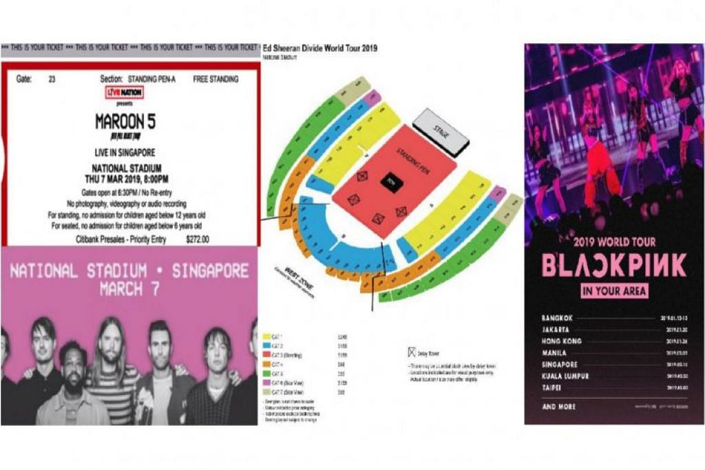 Teenager arrested for Ed Sheeran, Maroon 5, Blackpink ticket scams involving $5,400 on Carousell