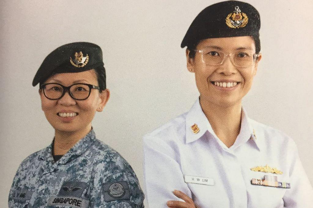 LINDUNGI UDARA DAN PERAIRAN NEGARA: ME3 Ang Lay Yim (kiri), ialah jurulatih kanan di Sekolah Rangkaian, C2 dan Pertahanan Udara dan Institut Latihan Kejuruteraan Udara, manakala SLTC Lim Huay Wen (kanan) kini mengetuai penyelidikan tentera laut di Jabatan Risikan Tentera Laut. - Foto MINDEF