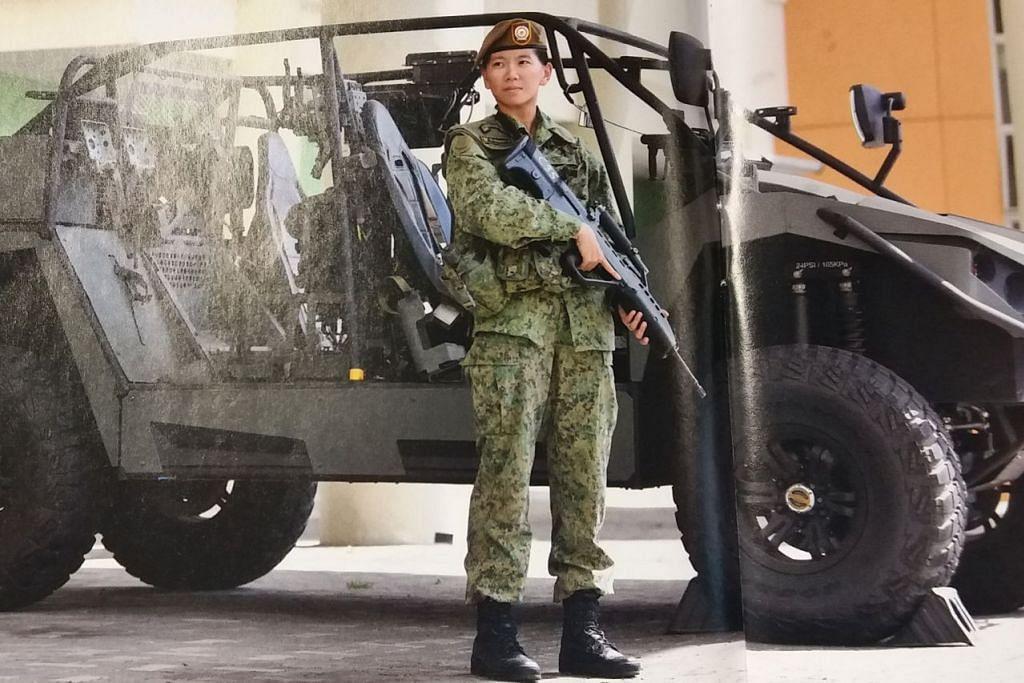 """""""Saya mahu mencabar diri saya, jadi saya fikir lebih baik cabaran atau balik rumah sahaja."""" - (1SG) Stephanie Chin (gambar atas) satu-satunya wanita yang memegang jawatan Pegawai Waran dan Pakar Guards (WOSPEC). - Foto MINDEF"""