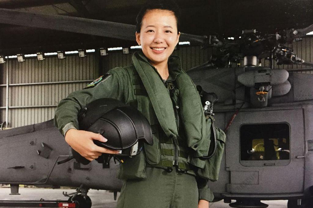 """Dapat menyertai RSAF nampak hebat tetapi anda juga perlu memikirkan cara mengatasi cabaran dan hari-hari sukar."" - Mejar Lou Yang (gambar atas) satu-satunya juruterbang wanita bagi helikopter Sikorsky S-70B Seahawk Angkatan Udara Republik Singapura (RSAF). - Foto MINDEF"