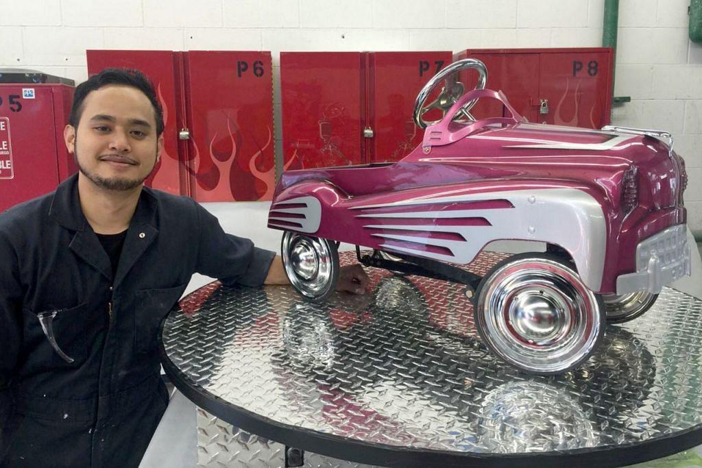 UBAH IMEJ INDUSTRI: Encik Danial perlu gunakan kereta kecil bagi mempraktikkan apa yang dipelajari semasa belajar di Institut Teknologi British Columbia di Canada. - Foto ihsan DANIAL HANIP
