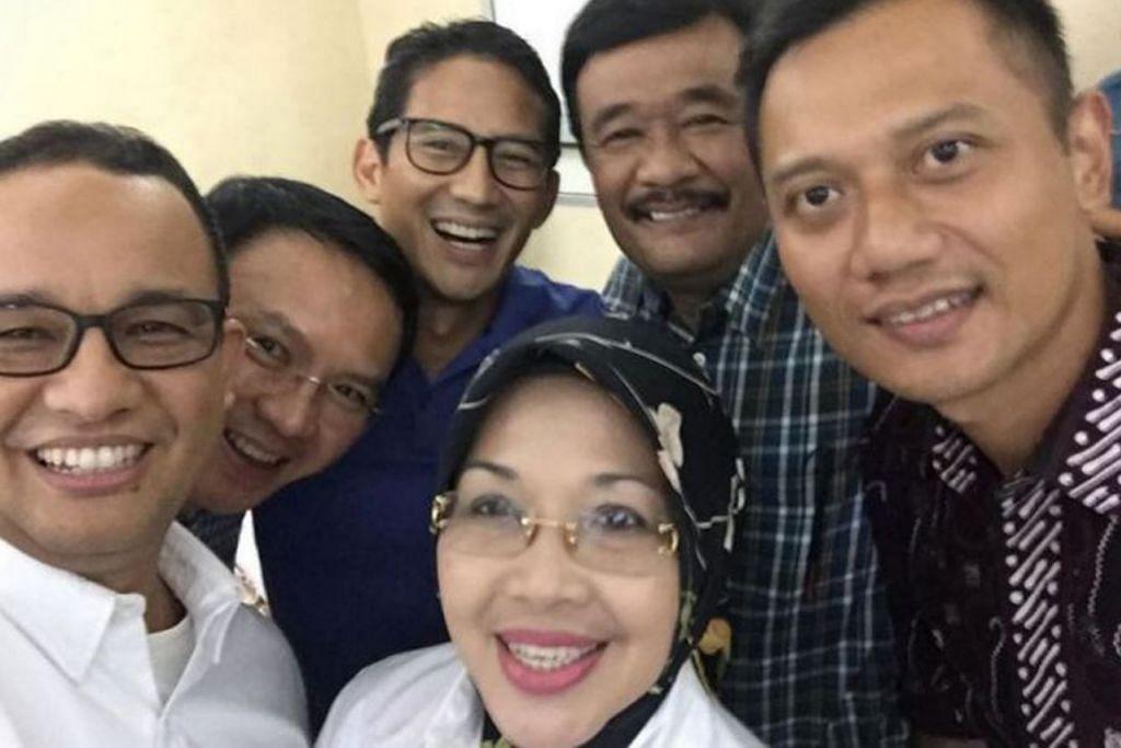 PELAPIS: Antara yang mungkin bersaing bagi jawatan tertinggi Indonesia pada 2024 termasuk (dari kiri) Encik Anies Baswedan, Encik Basuki Tjahaja Purnama, Encik Sandiaga Uno, dan (kanan) Encik Agus Harimurti Yudhoyono. - Foto Internet