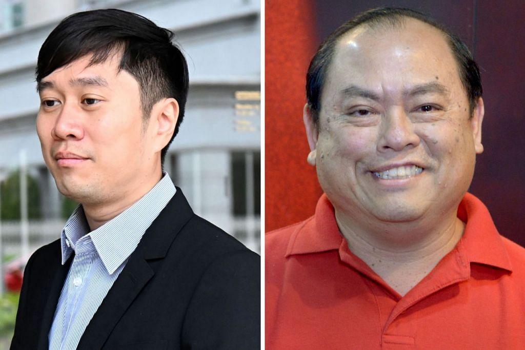 DIDENDA: Jolovan Wham (kiri) dan John Tan masing-masing didenda $5,000 kerana hina badan kehakiman. - Foto AFP, fail