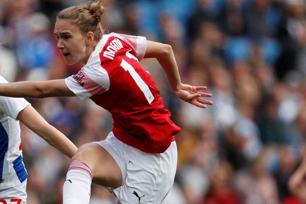 SUMBANGAN GOL TERBANYAK: Vivianne Miedema, pemain Arsenal, merupakan pemain yang banyak menjaringkan gol dalam Liga Super Wanita dengan sebanyak 22 jaringan dalam 19 perlawanan. - Foto REUTERS