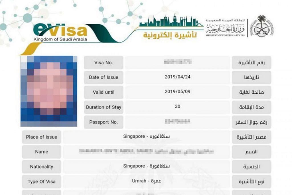 E-VISA: Sistem e-visa baru yang diperkenal kerajaan Saudi bulan lalu dijangka dapat mempercepat dan memudahkan proses permohonan visa bagi jemaah yang ingin ke Arab Saudi untuk mengerjakan umrah. - Foto SHAHIDAH TRAVEL & TOURS