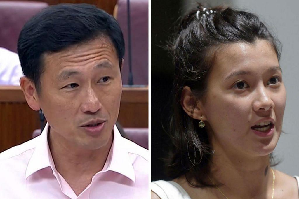 KES DIBINCANG DI PARLIMEN: Kes Cik Monica Baey (kanan) jadi mangsa intai mendapat perhatian orang ramai dan turut dibincangkan Menteri Pendidikan, Encik Ong (kiri) di Parlimen semalam.