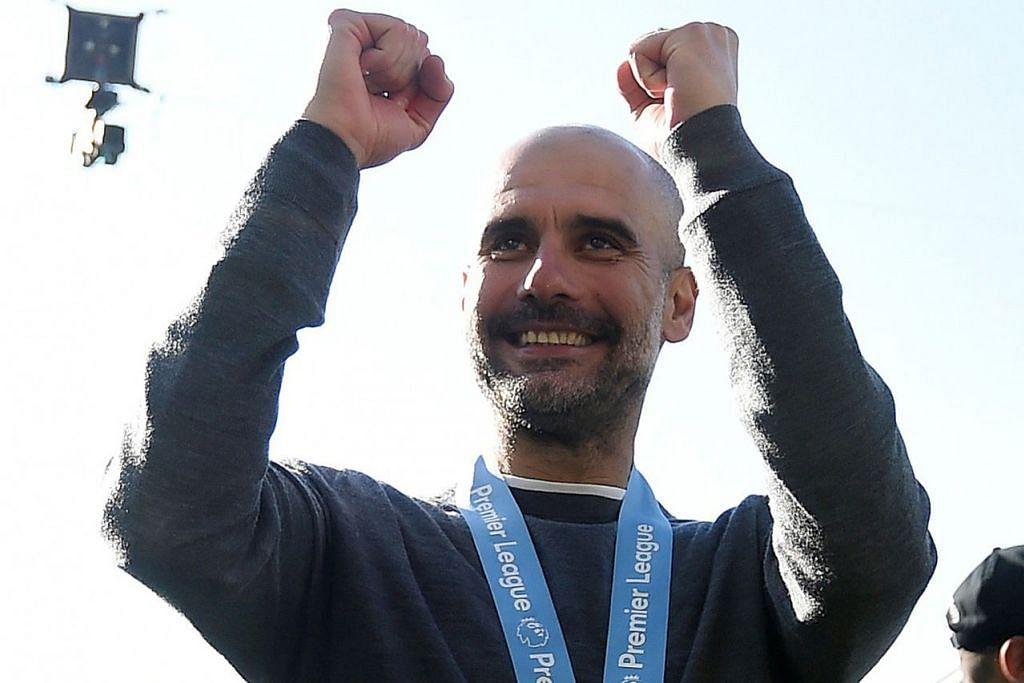 PENCAPAIAN BESAR: Selepas mengharungi musim yang sengit dan sukar, Guardiola dapat menarik nafas lega setelah berjaya membantu City menjadi juara EPL sekali lagi. - Foto REUTERS