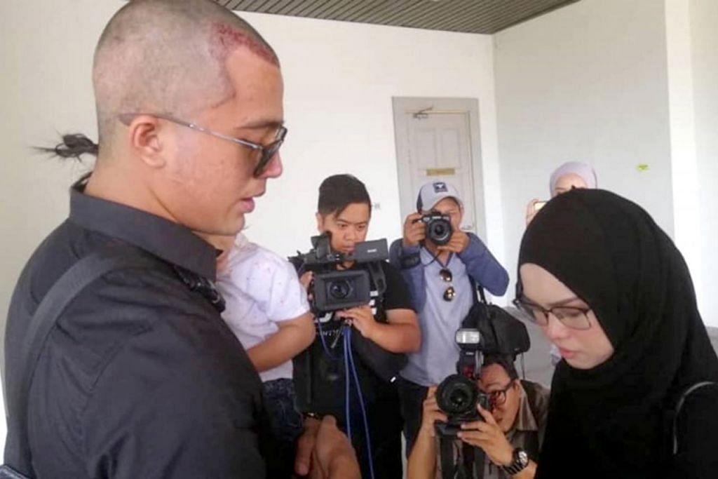 SAH CERAI: Aliff (kiri) dan Bella (kanan) sah bercerai talak satu di Mahkamah Rendah Syariah Kuala Lumpur kelmarin. – Foto KOSMO